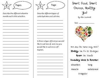 Smart Food Smart Choices Healthy You Trifold - 5th Gr Literacy by Design Th 16