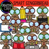 Smart Gingerbread: Christmas Clipart {Creative Clips Clipart}