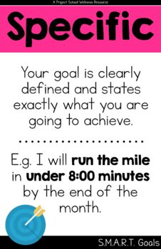 S.M.A.R.T. Goal Poster - Classroom Posters, Goal Setting, School Counselor
