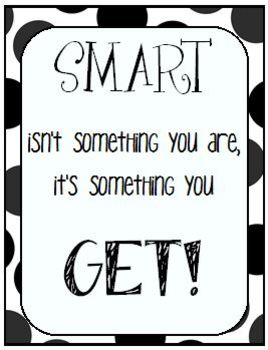 Smart Isn't Something You Are, It's Something You Get! Quote Pack