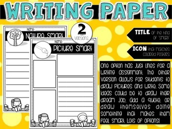 Smart Kids: 8 Posters and Writing Paper