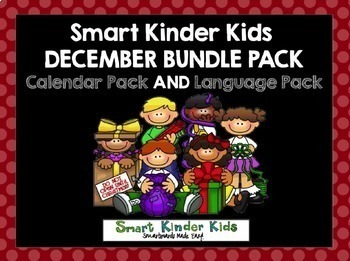 2018 Smart Kinder Kids BUNDLE - December Calendar AND Language for Smartboard