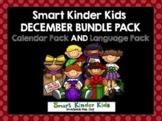 2018 Smart Kinder Kids BUNDLE - December Calendar AND Language for Smartboard