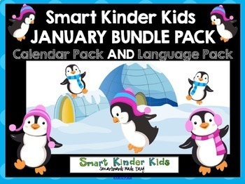 2018 Smart Kinder Kids BUNDLE - January Calendar/Math & Language for Smartboard