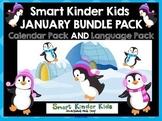 2018 Smart Kinder Kids BUNDLE - January Calendar/Math & Language for Smartboard