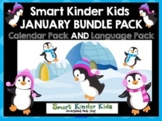 2021 Smart Kinder Kids BUNDLE - January Calendar/Math & Language for Smartboard
