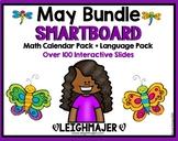 2019 Smart Kinder Kids BUNDLE - May Calendar Pack AND Language Pack SMARTboard