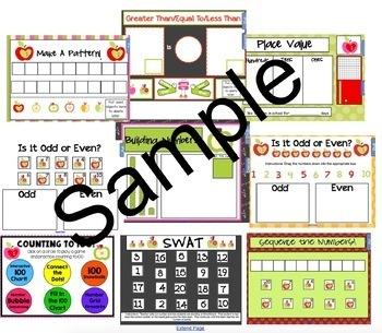 2017 Smart Kinder Kids BUNDLE September Calendar Math Pack AND Language Pack