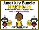2020 Smart Kinder Kids Bundle - June/July Smartboard Calendar & Language Pack