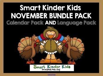 2017 Smart Kinder Kids BUNDLE - November Language & Calendar/Math for Smartboard