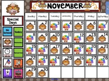 2018 Smart Kinder Kids BUNDLE - November Language & Calendar/Math for Smartboard