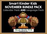 2019 Smart Kinder Kids BUNDLE - November Language & Calendar/Math for Smartboard