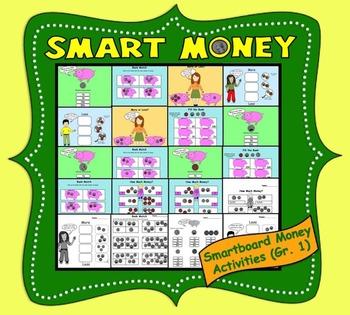 Smart Money, Interactive Smartboard Activities for Gr. 1