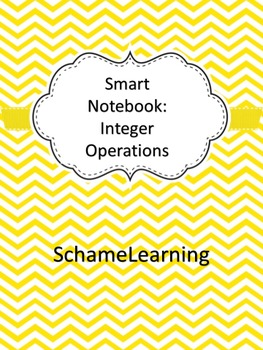 Smart Notebook - Add/Sub/Multiply/Divide Integers Notes