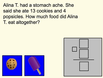 Smart Notebook Addition and Subtraction Word Problems for Kindergarten
