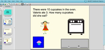 Smart Notebook Addition and Subtraction Word Problems for