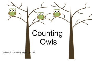 Smart Notebook Counting Owls
