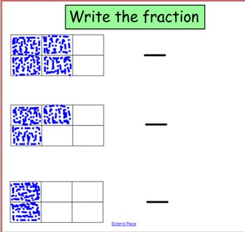 Smart Notebook: Fractions/Shading and Writing Fractions