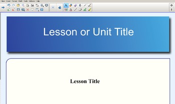 Smart Notebook Lesson Template