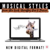 Musical Styles from the book Giraffes Can't Dance - Digita