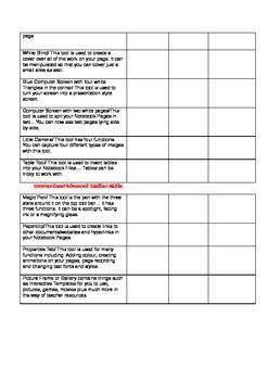 Smart Notebook Skill Set List for Programs