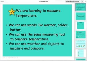 Smart Notebook: Temperature
