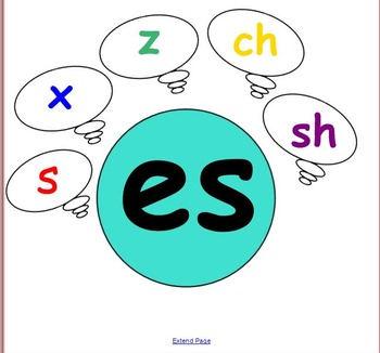 Smart Notebook: Writing Inflectional Endings -es/s