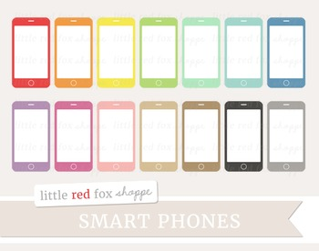 Smart Phone Clipart; Cell Phone, Telephone