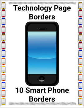 Smart Phone Technology Page Borders