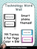 Smart Phone Themed Technology Word Wall