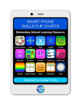 Smart Phones Skills Flip Charts - Resource for ESOL, Remediation, Journals, More
