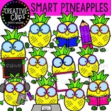 Smart Pineapple Clipart {Creative Clips Clipart}