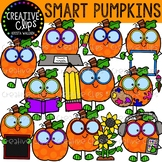 Smart Pumpkins: Fall Clipart {Creative Clips Clipart}
