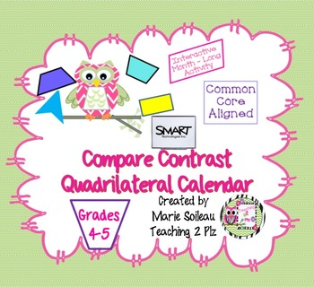 Smart Quadrilateral Compare Contrast Calendar