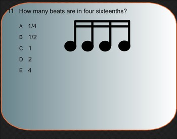 Smart Response Rhythm Quiz 2:  Beat Values and Time Signatures.