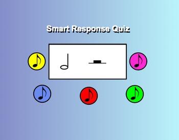 Smart Response Rhythm Quiz (Half note/rest)