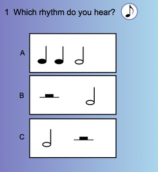 Smart Response Rhythm Quiz (Half note/rest)