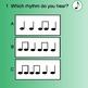 Smart Response Rhythm Quiz (Quarter note/Eighth notes)