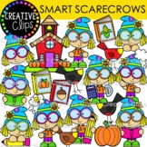 Smart Scarecrow Clipart {Fall Clipart}