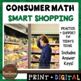 Smart Shopping - Consumer Math Unit (Notes, Practice, Test