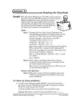 Smart Shopping Math: Reading Ads-Reading the Classifieds
