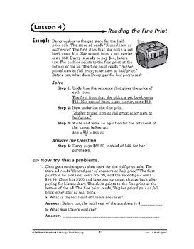 Smart Shopping Math: Reading Ads-Reading the Fine Print