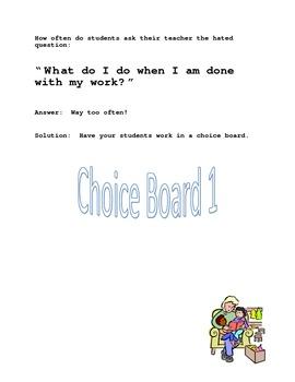 Smart Start Choice Board