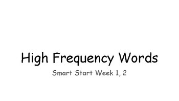 Smart Start High Frequency Fitness - Reading Wonders