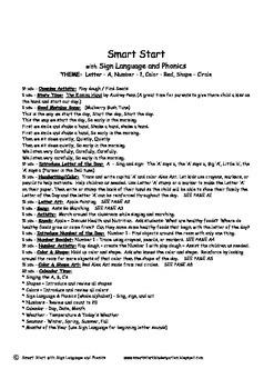 Smart Start Pre-K / Preschool Curriculum with Sign Language and Phonics!