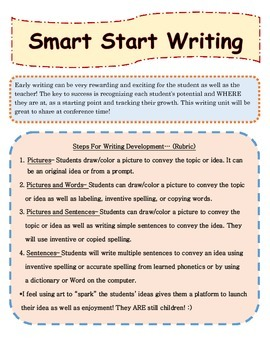 Smart Start Writing for Kindergarten Using Standards