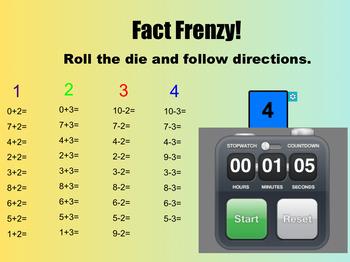 Smart Technologies - 1-10 Fact Fluency (editable)