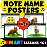 NOTE NAME POSTERS Treble and Bass Clef Music Theory