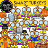 Smart Turkey Clipart (Thanksgiving Clipart)
