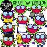 Smart Watermelon Clipart {Creative Clips Clipart}